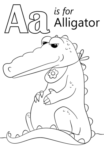 a for alligator coloring page letter a song alligator song for kids learning english abc page alligator coloring for a