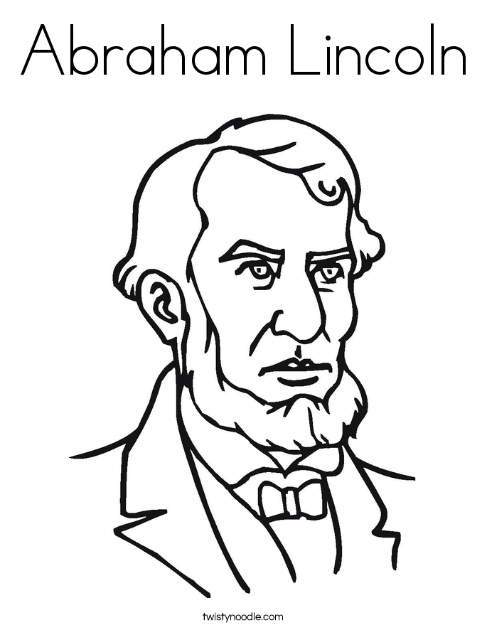 abraham lincoln coloring page abraham lincoln coloring page twisty noodle coloring abraham lincoln page