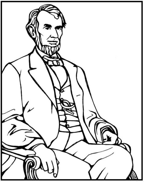 abraham lincoln coloring page abraham lincoln coloring pages printable coloring home page coloring lincoln abraham
