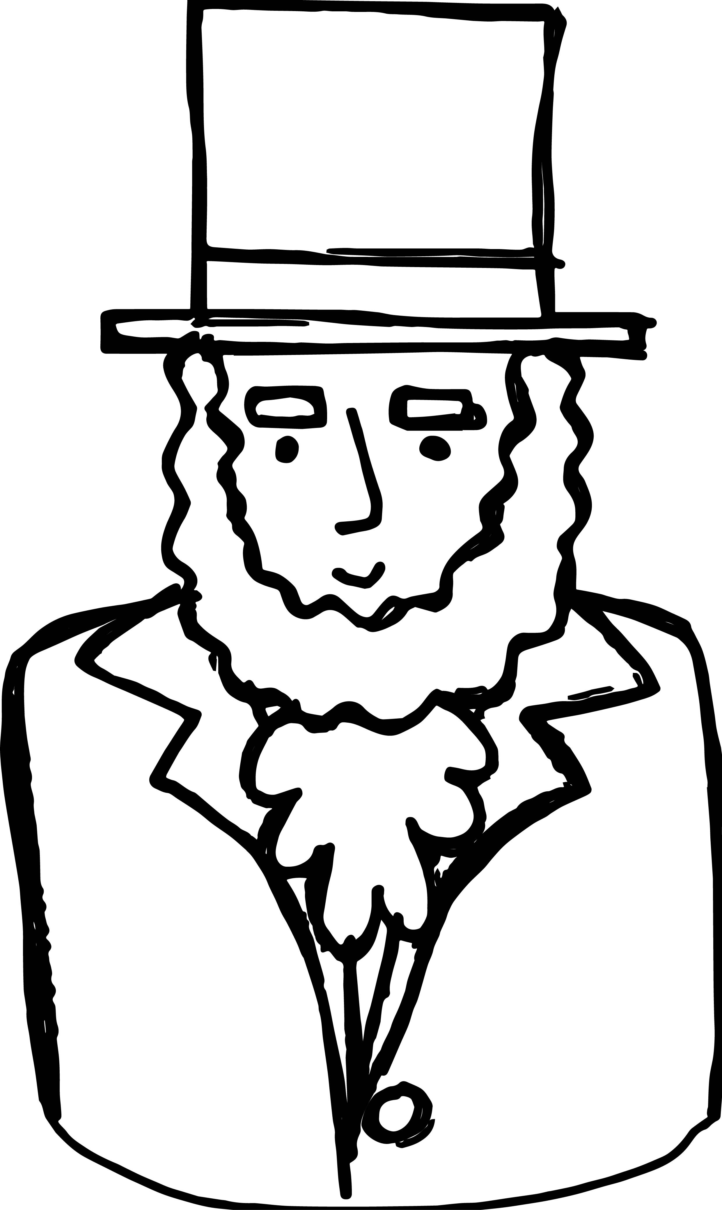 abraham lincoln coloring page abraham lincoln with hat drawing at getdrawings free abraham page coloring lincoln
