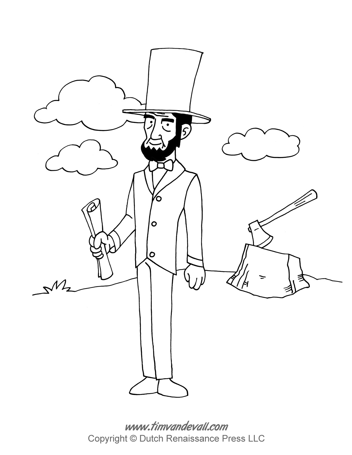 abraham lincoln coloring page tim van de vall comics printables for kids abraham page coloring lincoln