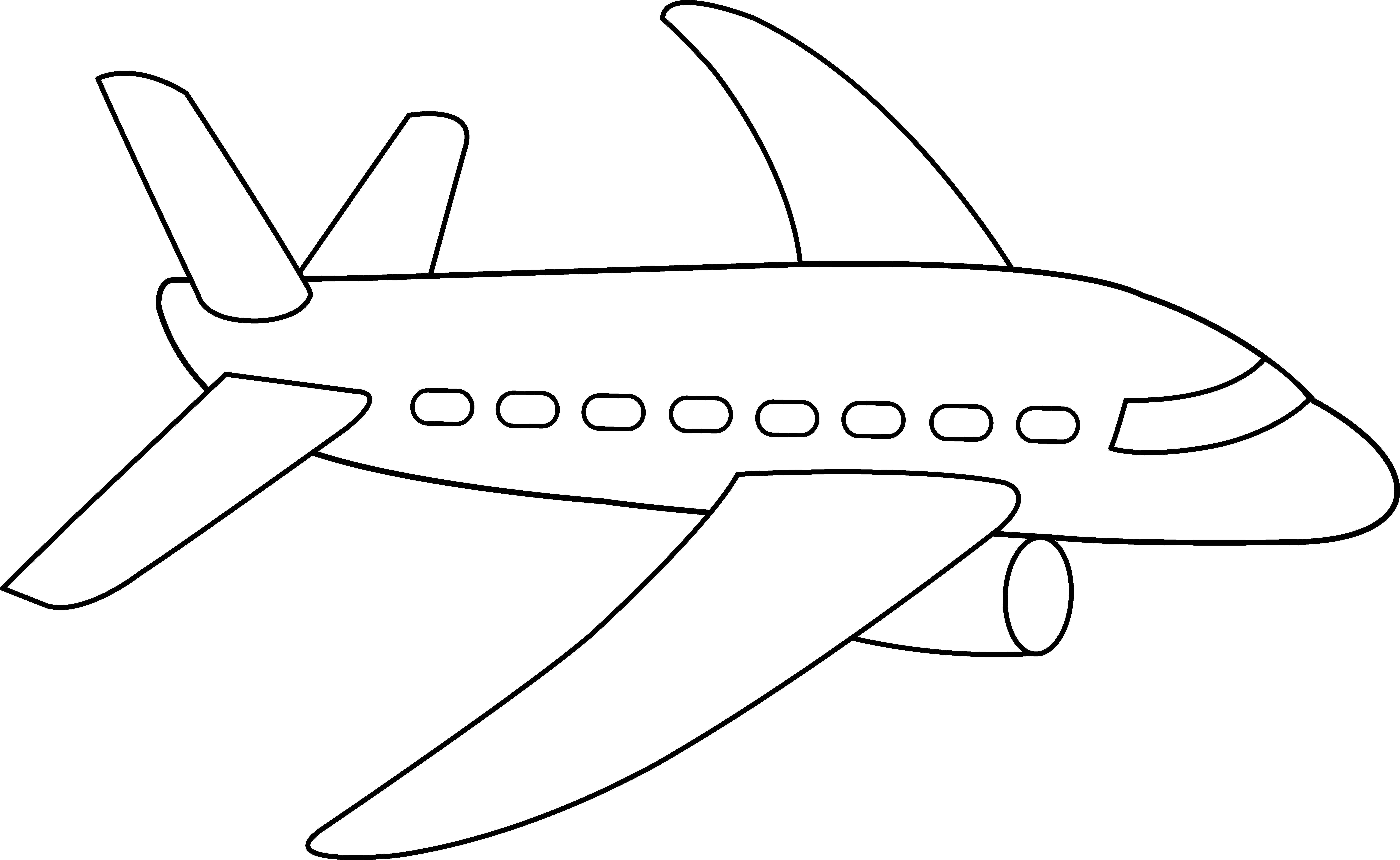 airplane clipart coloring airplane outline free download on clipartmag clipart airplane coloring