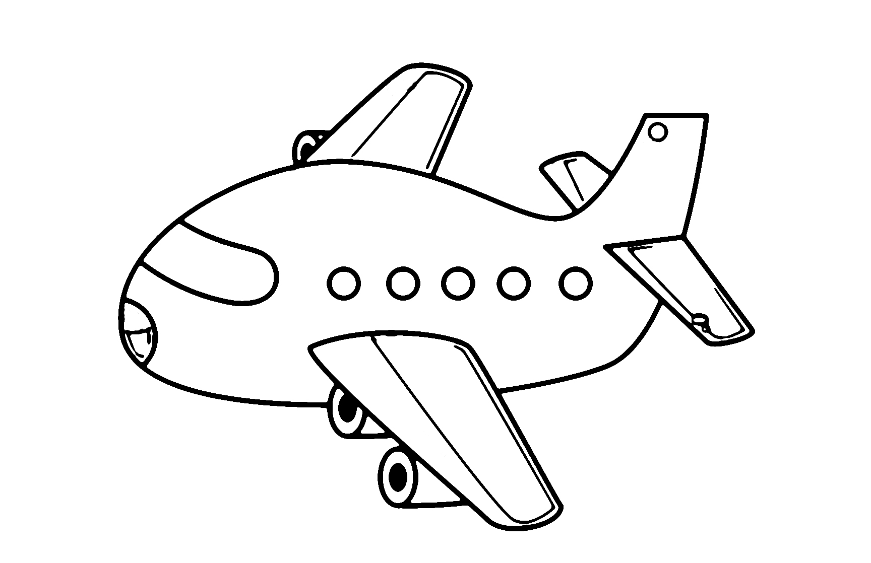 Airplane clipart coloring
