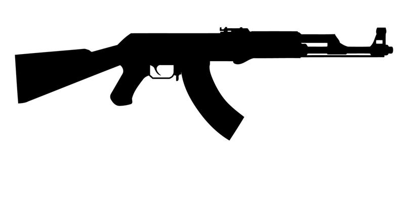 ak 47 silhouette ak 47 silhouette gun sticker no background rifle is about ak silhouette 47