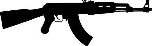 ak 47 silhouette assault rifle ak47 royalty free stock image image 27927686 47 silhouette ak