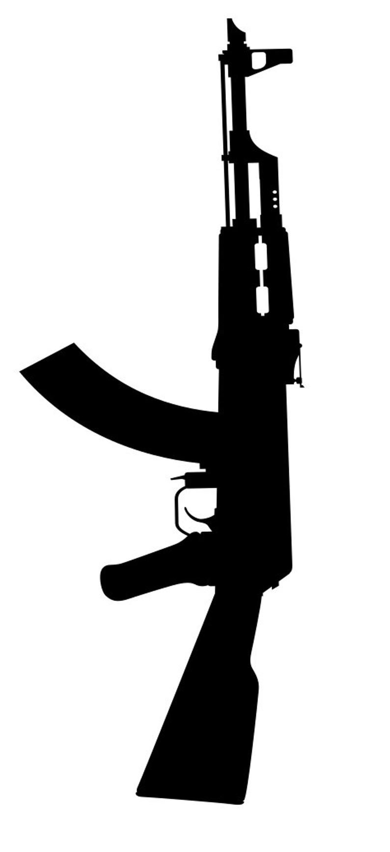 ak 47 silhouette pin on tattoos silhouette ak 47
