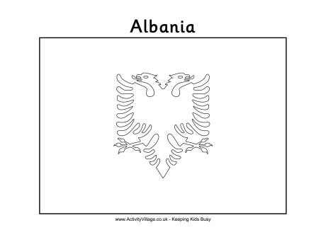 Albanian flag coloring page