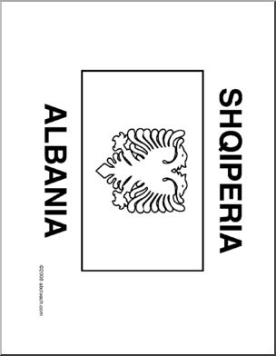 albanian flag coloring page clip art flags albania coloring page i abcteachcom coloring page albanian flag