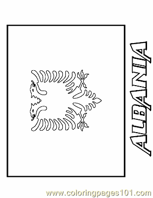 albanian flag coloring page coloring pages albania education gt flags free flag albanian page coloring