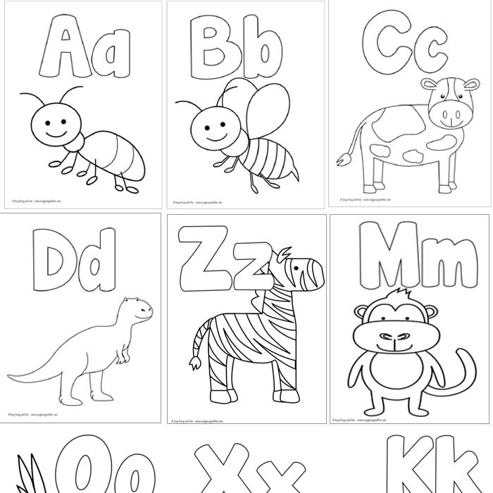 alphabet for coloring free printable coloring alphabet letters ausdruckbares coloring for alphabet