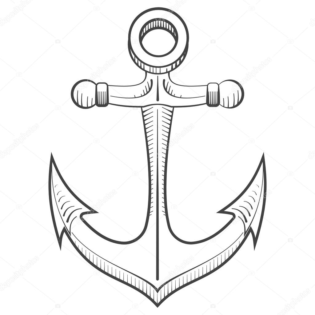 anchors to draw navy anchor drawing at getdrawings free download anchors to draw