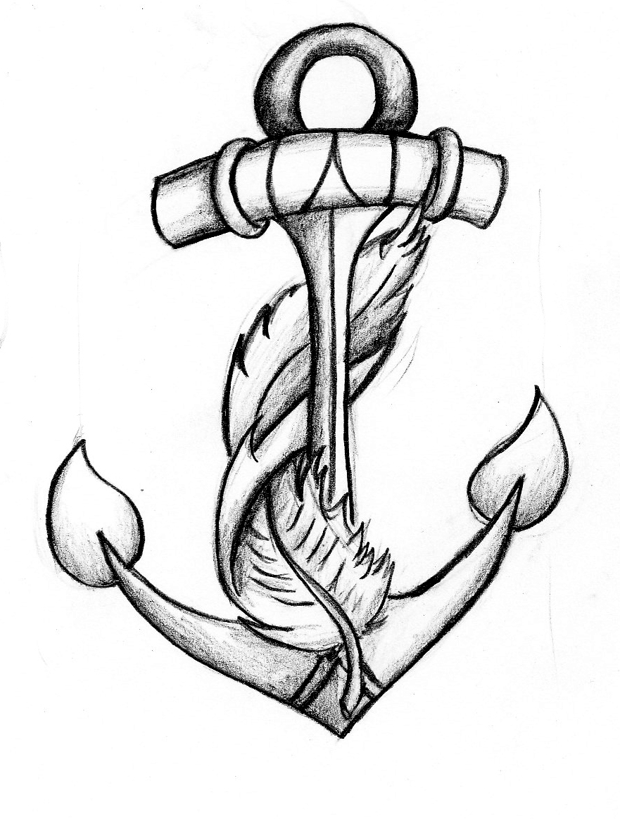 anchors to draw vector hand drawn anchor sketch sponsored sketch anchors draw to