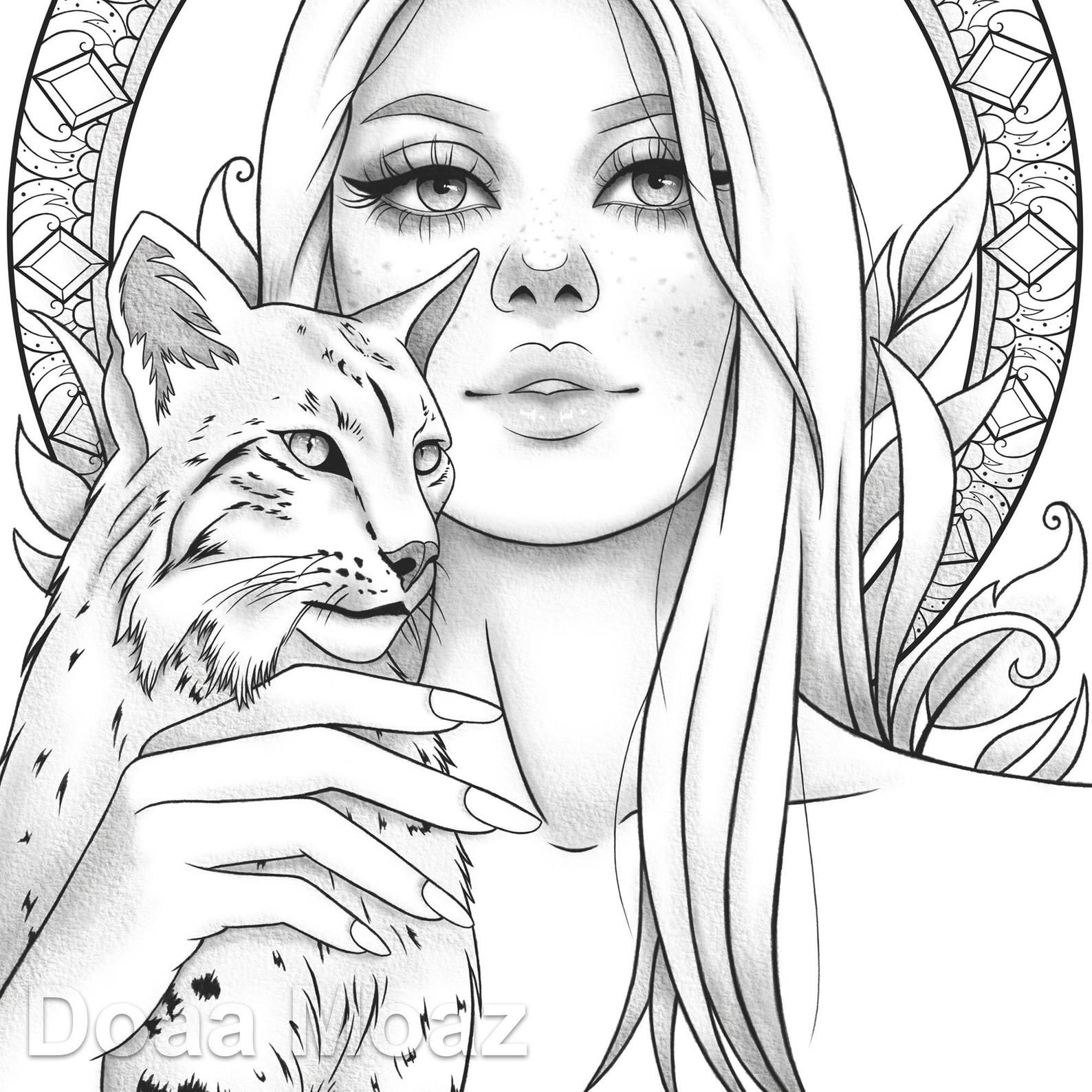 animal girl coloring pages anime coloring pages getcoloringpagescom animal pages coloring girl