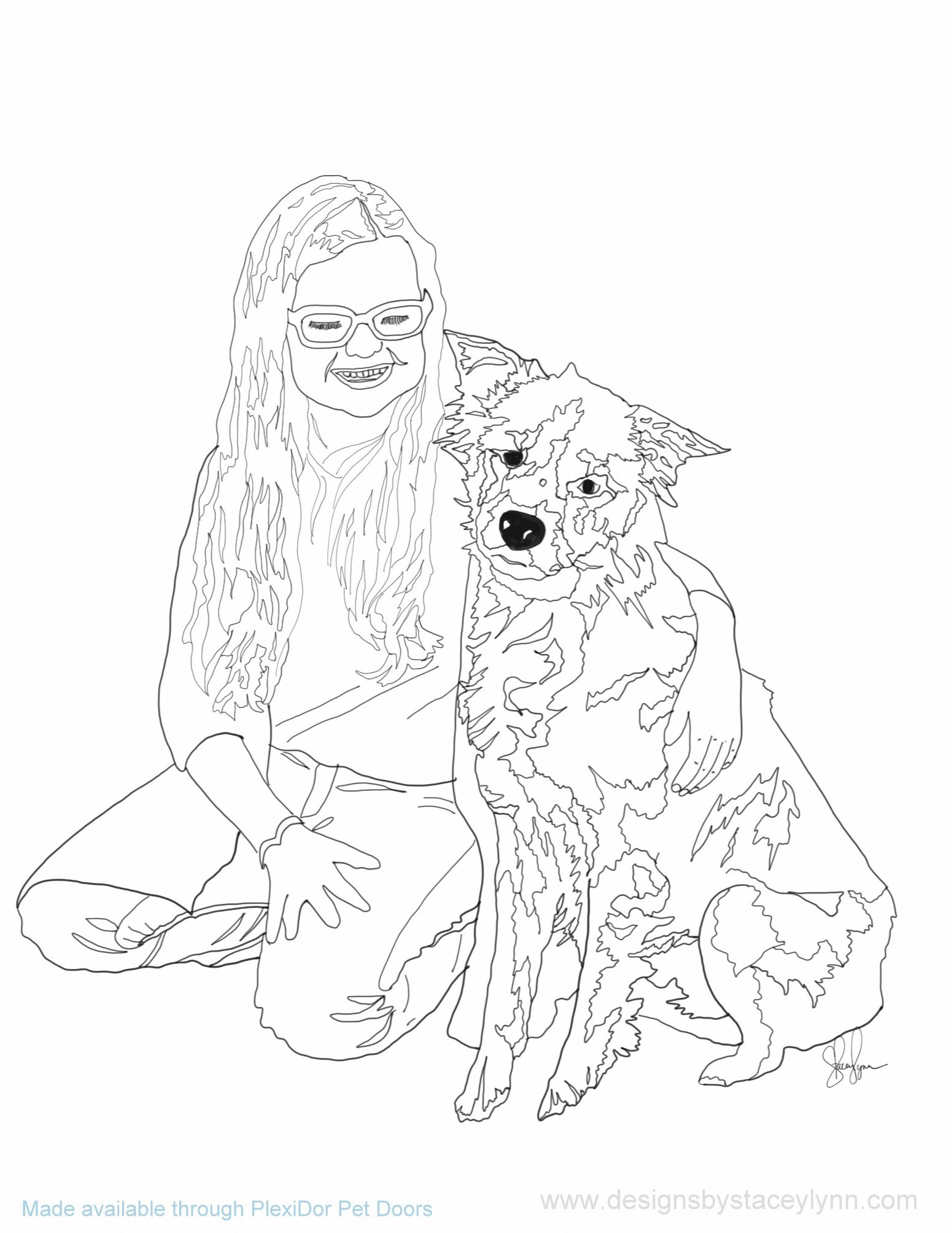 animal girl coloring pages fox girl coloring page girl pages coloring animal