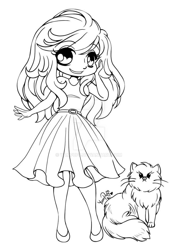 animal girl coloring pages lineart chibi jane by rueyumi on deviantart animal girl coloring pages