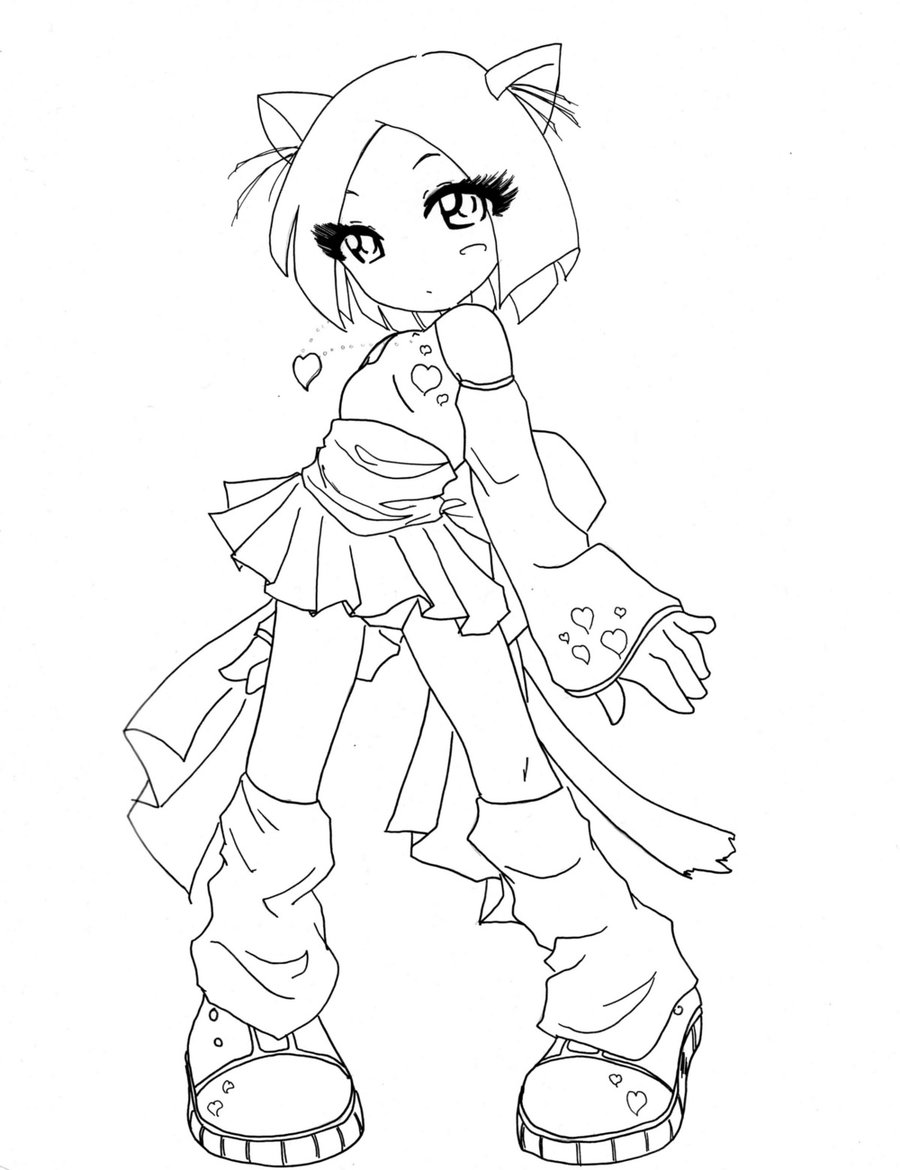 anime cat girl coloring pages anime cat coloring pages girl coloring pages cat anime