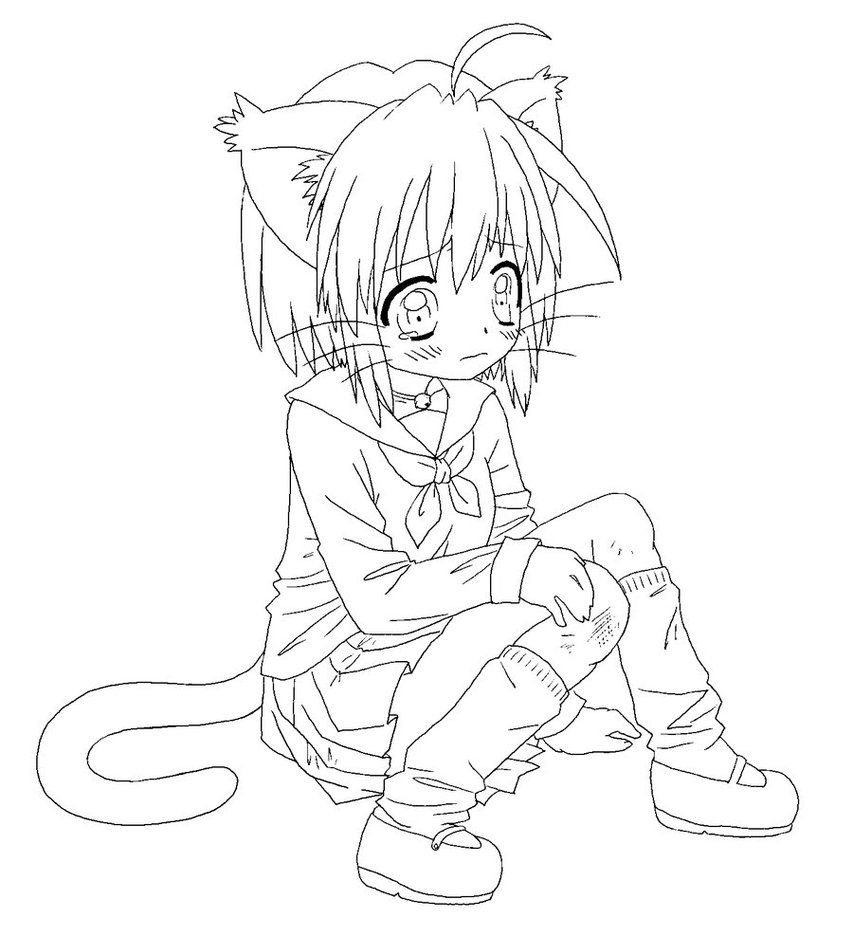 anime cat girl coloring pages anime cat girl coloring pages coloring home cat anime girl pages coloring