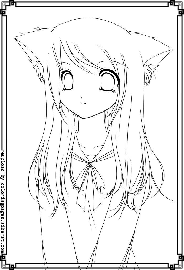 anime cat girl coloring pages anime cat girl coloring pages to print coloring pages cat pages coloring anime girl