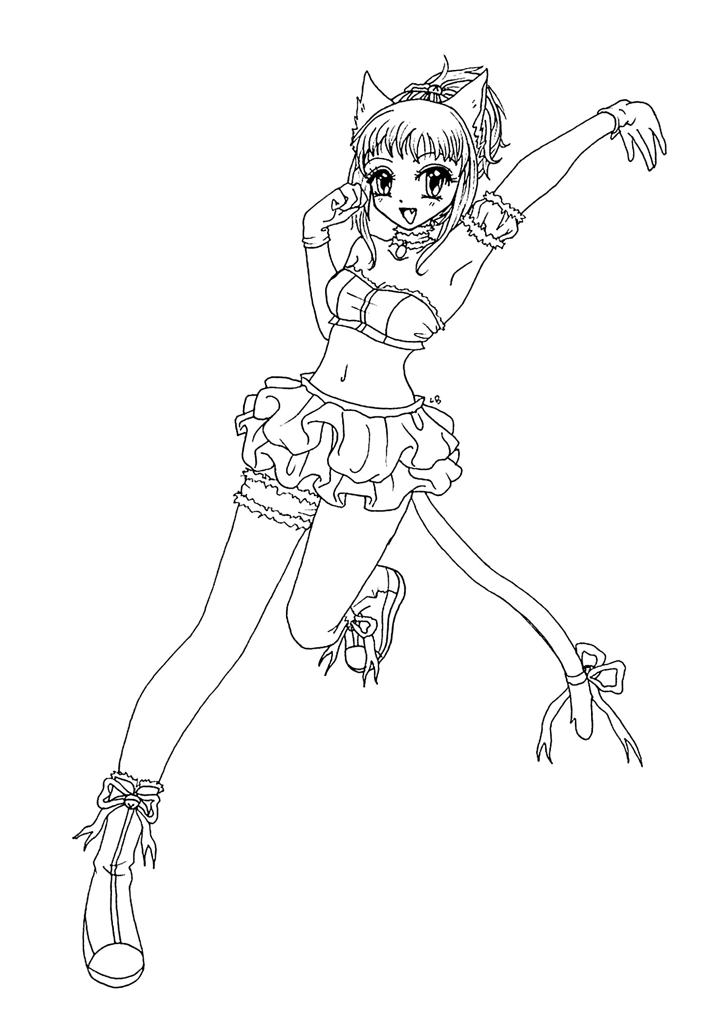 anime cat girl coloring pages cat anime coloring pages at getcoloringscom free anime coloring pages girl cat