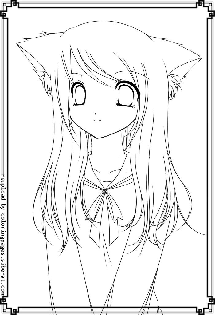 anime fox girl coloring pages anime fox girl cute coloring pages coloring home pages girl fox anime coloring