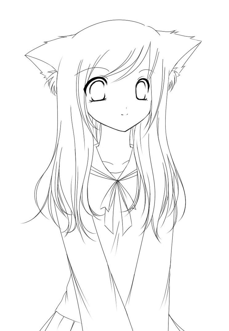 anime fox girl coloring pages fox girl lineart by operahouseghost on deviantart fox coloring pages girl anime