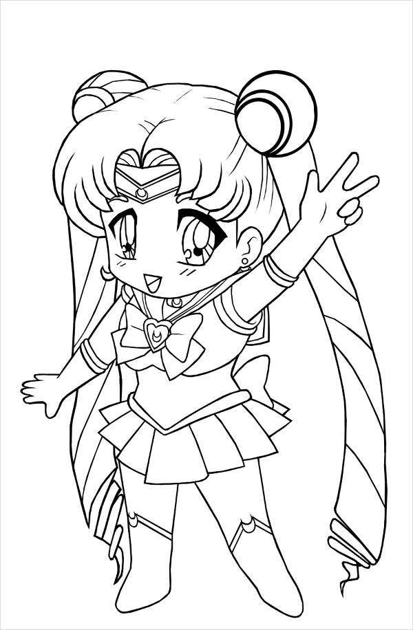Anime girl coloring pages printable