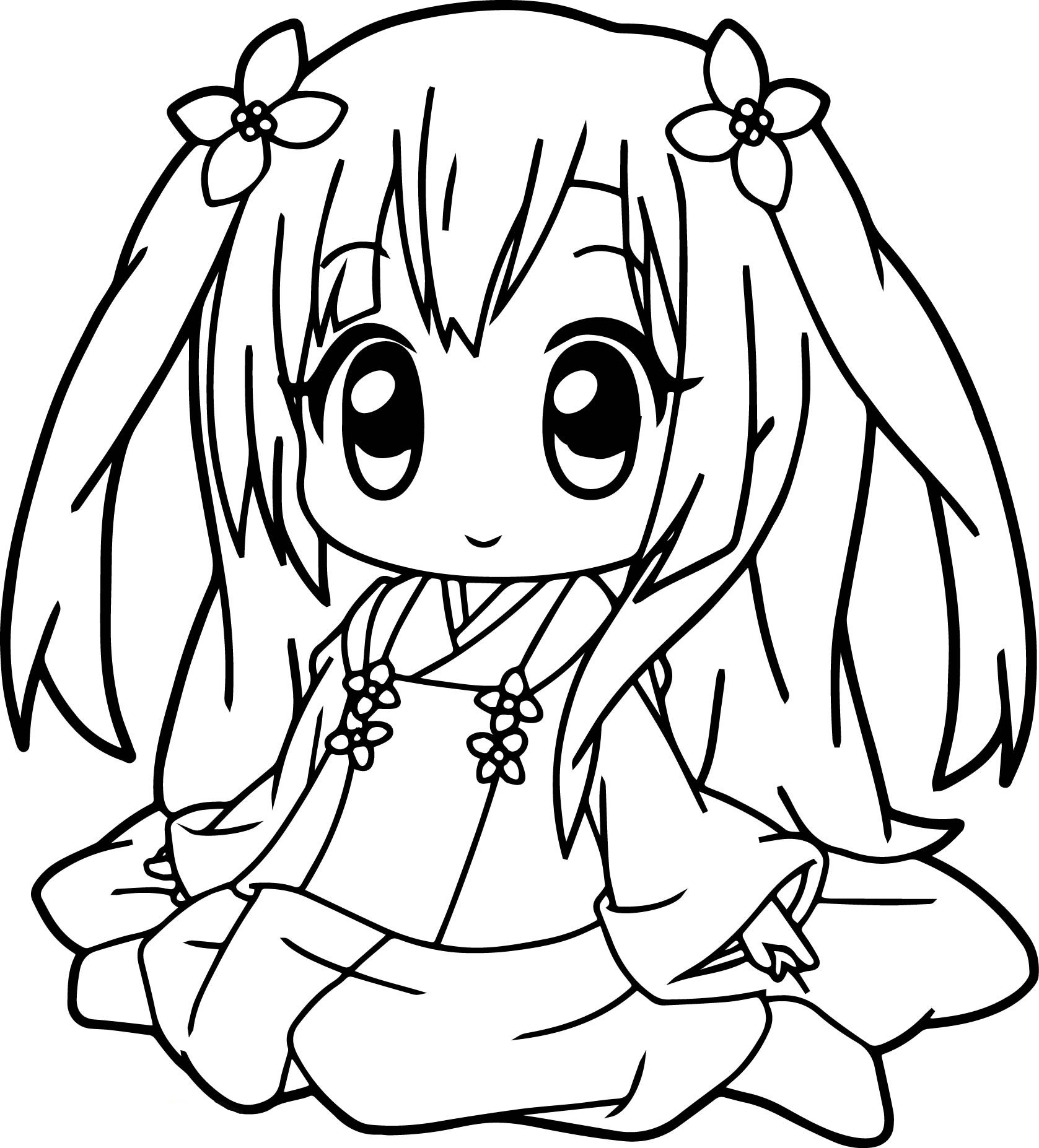 anime girl coloring pages printable coloring pages for girls pdf at getcoloringscom free pages anime girl printable coloring