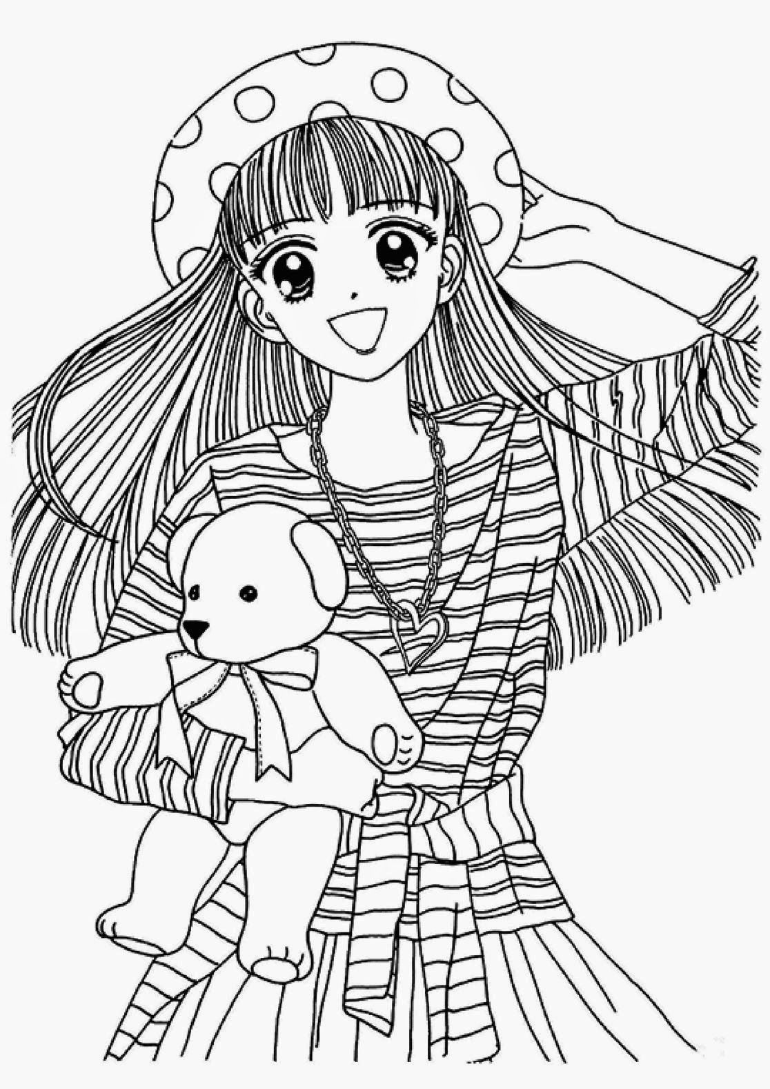 anime kawaii girl coloring pages anime coloring page kawaii beautiful cute anime coloring girl coloring kawaii anime pages