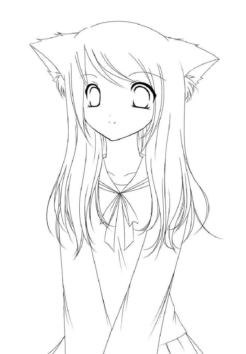 anime kawaii girl coloring pages anime girl coloring pages coloring pages to download and coloring anime girl kawaii pages