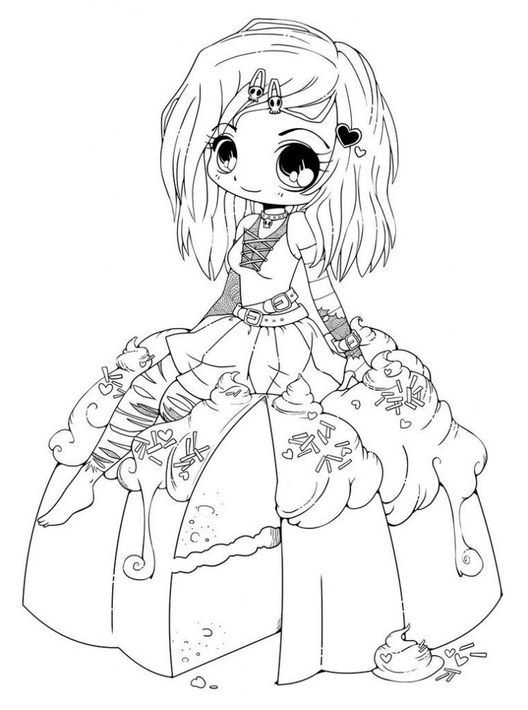 anime kawaii girl coloring pages anime kawaii girl coloring pages pages coloring anime girl kawaii