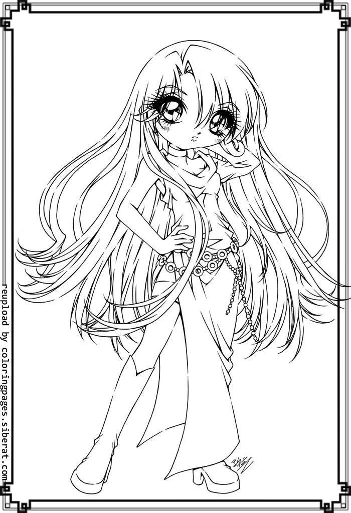 anime kawaii girl coloring pages coloring pages for girls free download on clipartmag coloring anime kawaii girl pages