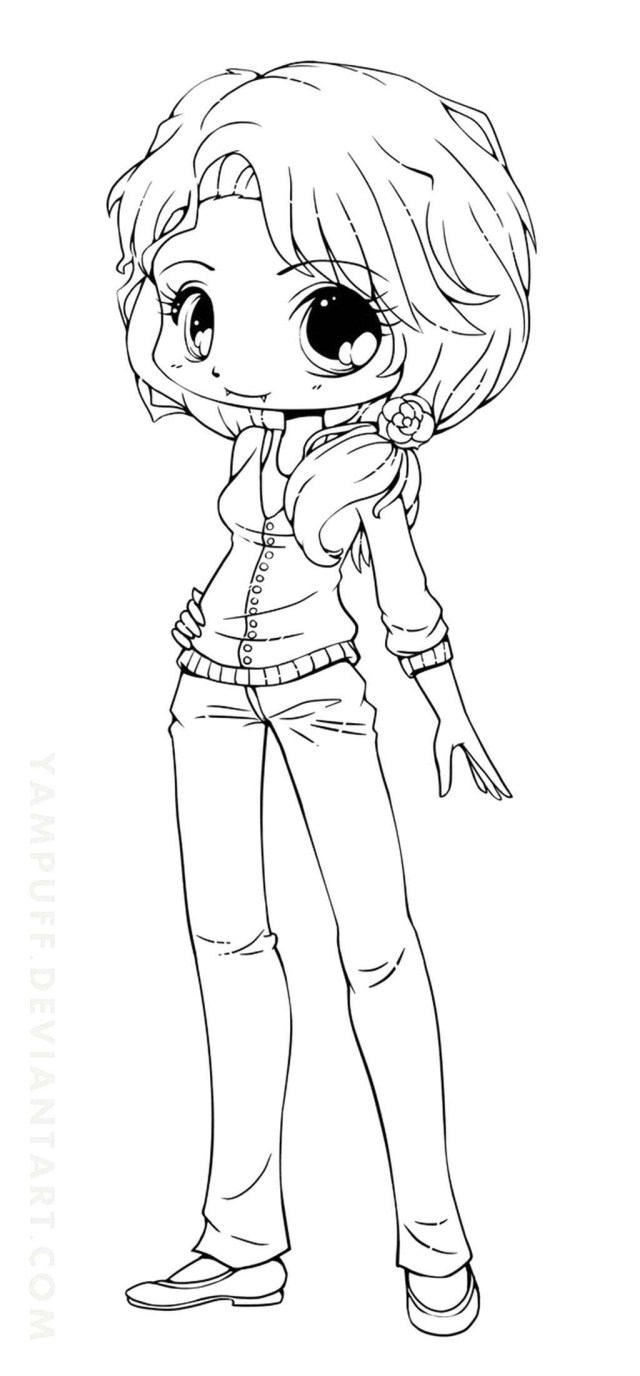 anime kawaii girl coloring pages cute anime face girls coloring pages coloring home girl kawaii coloring anime pages