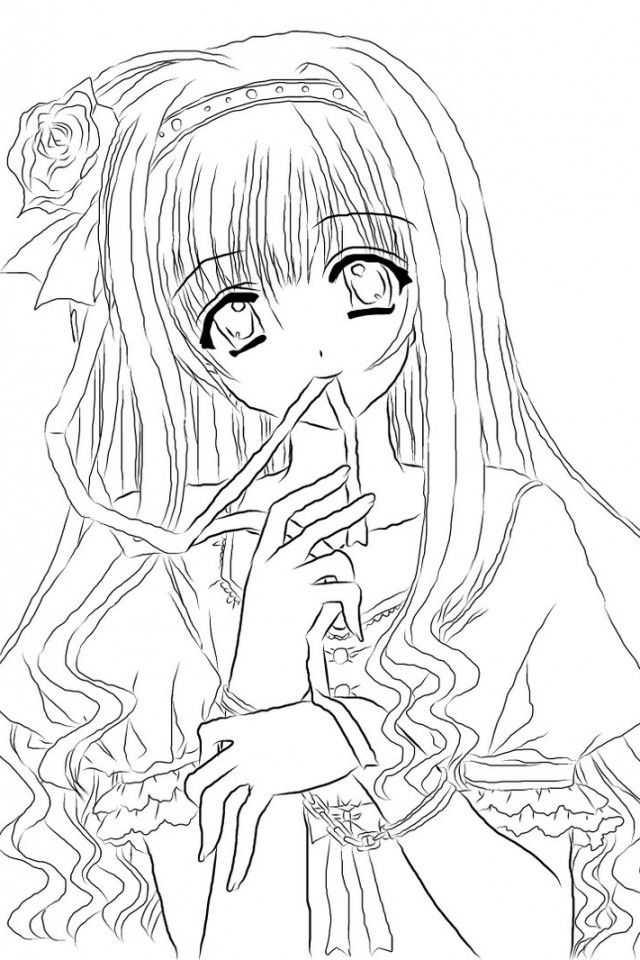 anime kawaii girl coloring pages cute anime girl lineart by chifuyu san on deviantart pages anime coloring girl kawaii