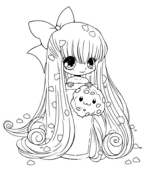 anime kawaii girl coloring pages fanart free chibi colouring pages yampuff39s stuff pages kawaii coloring girl anime