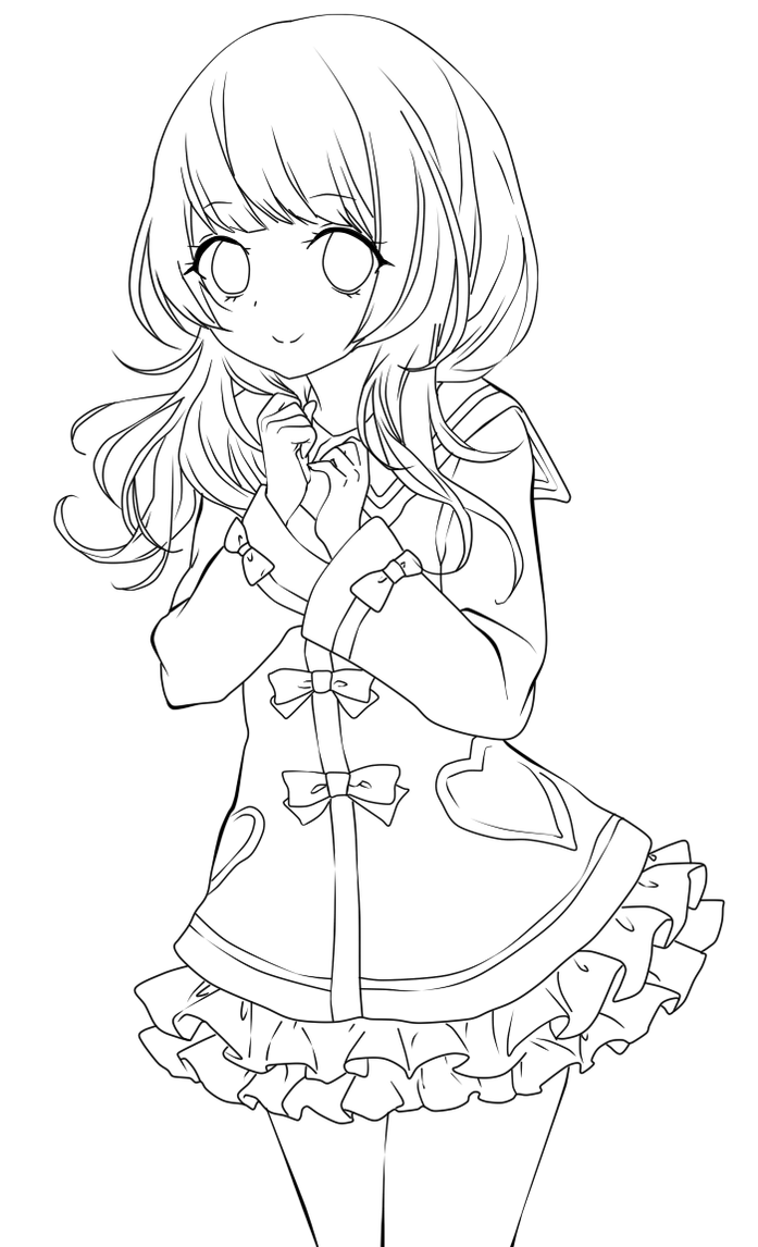 anime kawaii girl coloring pages image via we heart it anime animegirl kawaii manga pages girl anime kawaii coloring