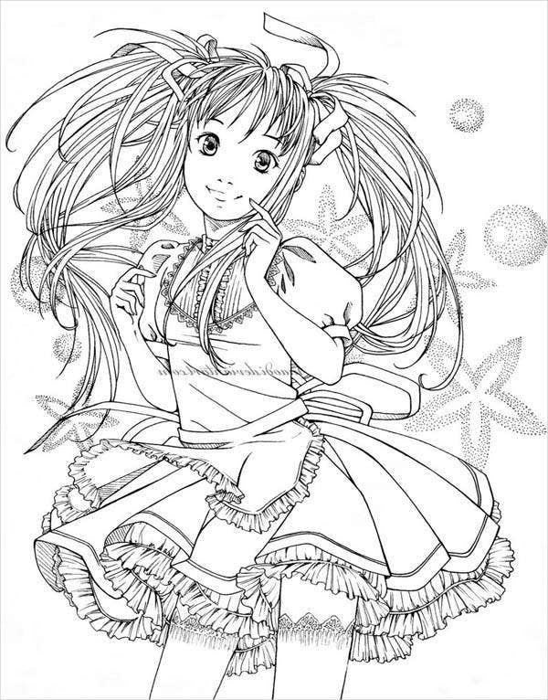 anime kawaii girl coloring pages pin on coloring pages for children at the library coloring anime girl pages kawaii