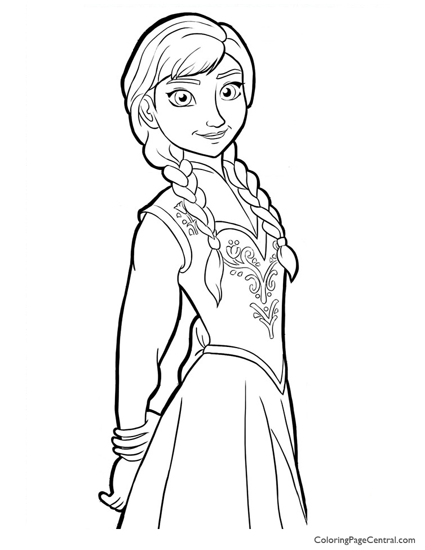anna coloring pages little princess anna coloring page bubakidscom anna pages coloring
