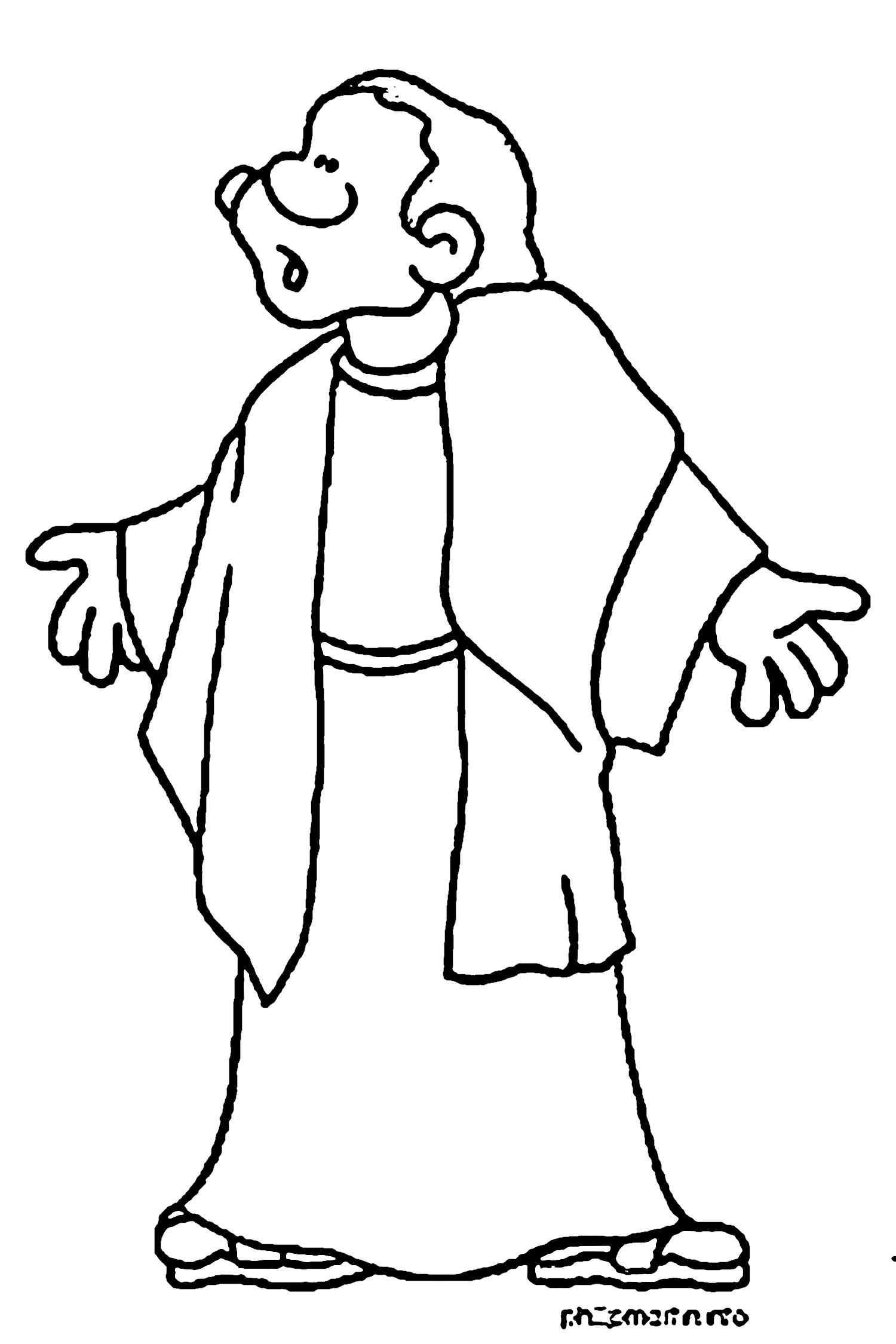 apostle paul coloring page 1000 images about paul and silas coloring pages on coloring paul apostle page