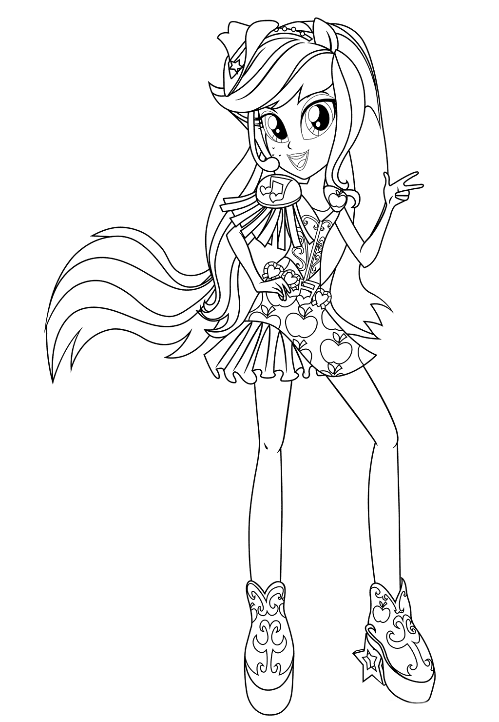 applejack equestria girls coloring pages equestria girls coloring pages print free applejack pages equestria girls coloring