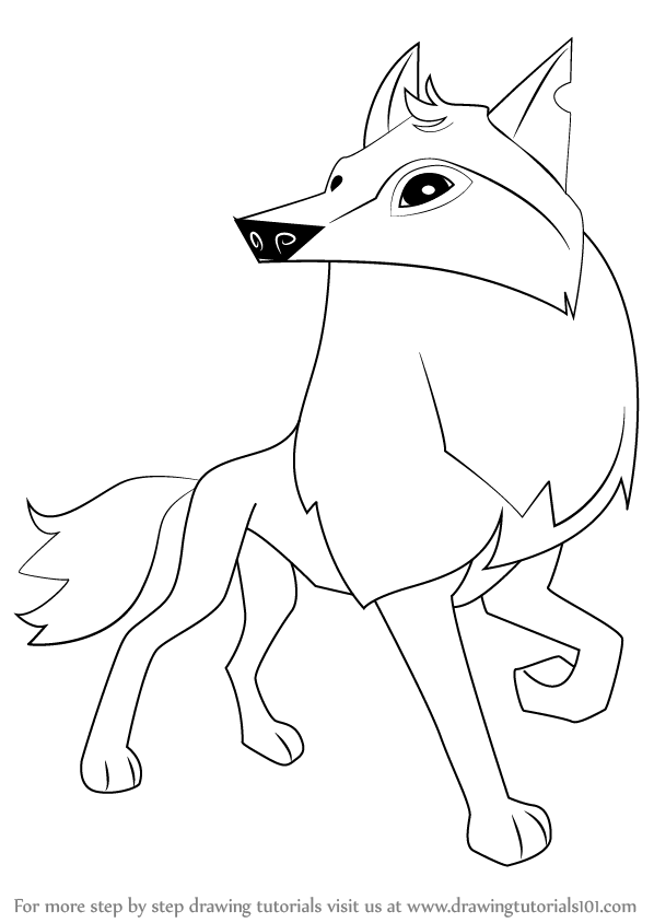 arctic wolf drawing arctic wolf sketch at paintingvalleycom explore wolf arctic drawing