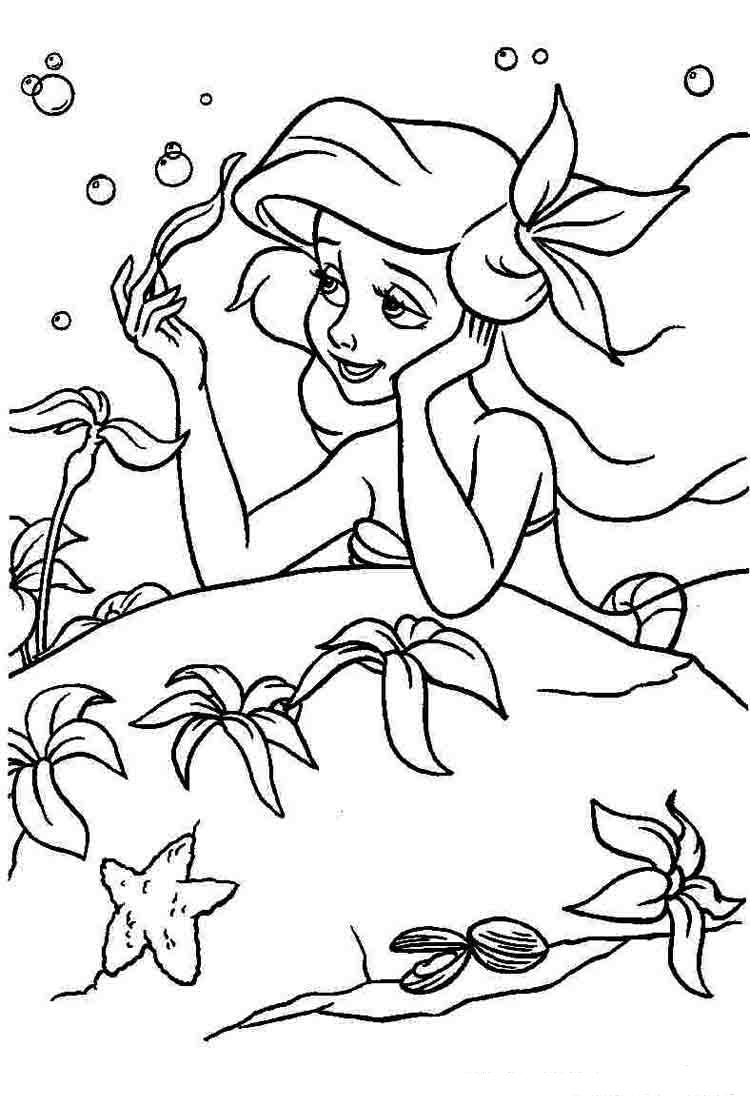 ariel colour in ariel the little mermaid coloring pages beautifull ariel colour in