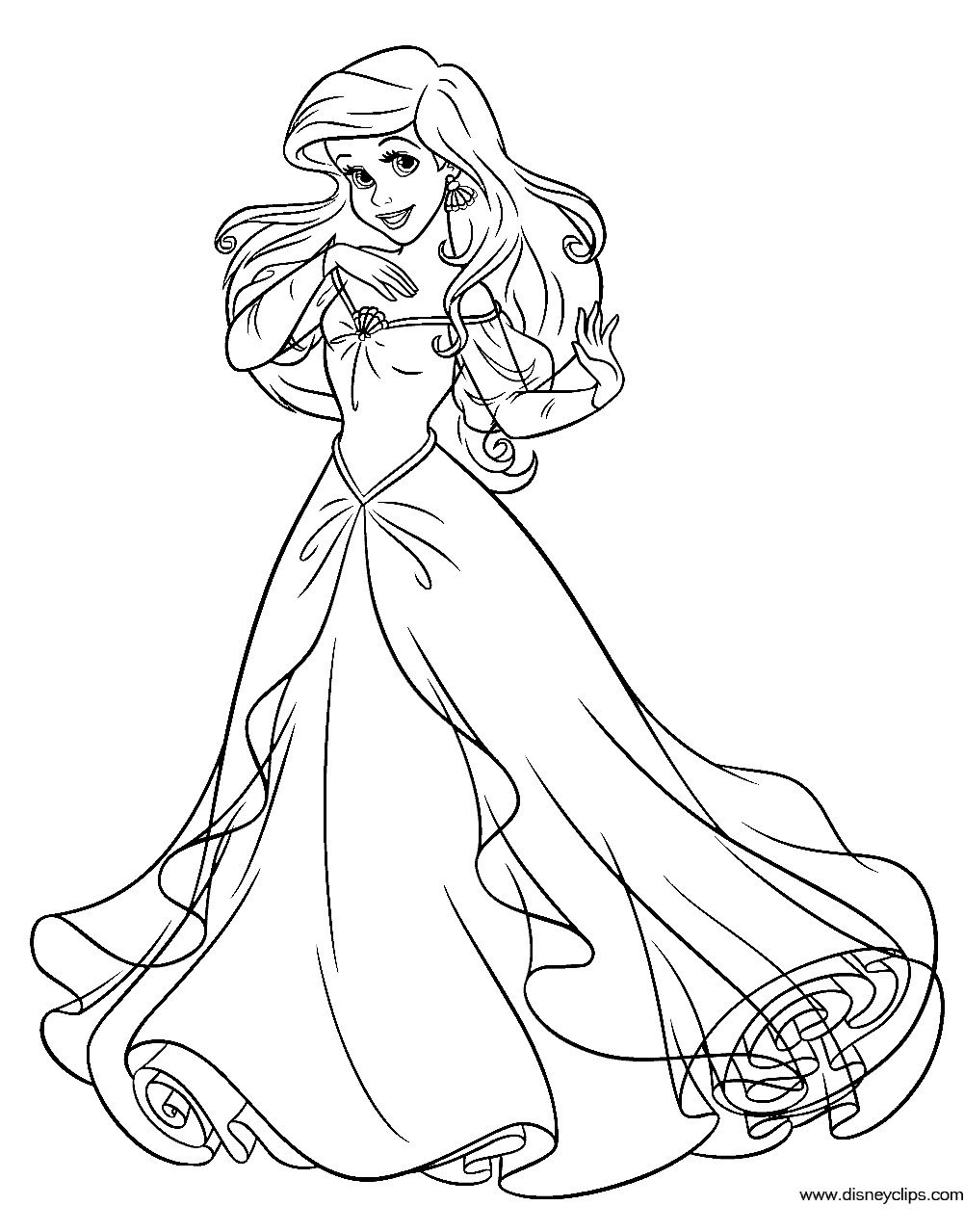 ariel colour in disney ariel coloring pages at getcoloringscom free ariel colour in