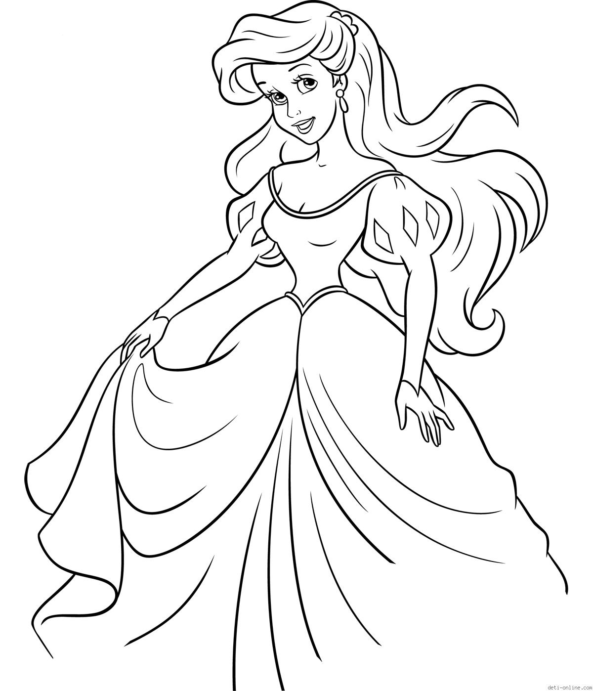 ariel disney coloring ariel the little mermaid coloring pages for girls to print coloring ariel disney