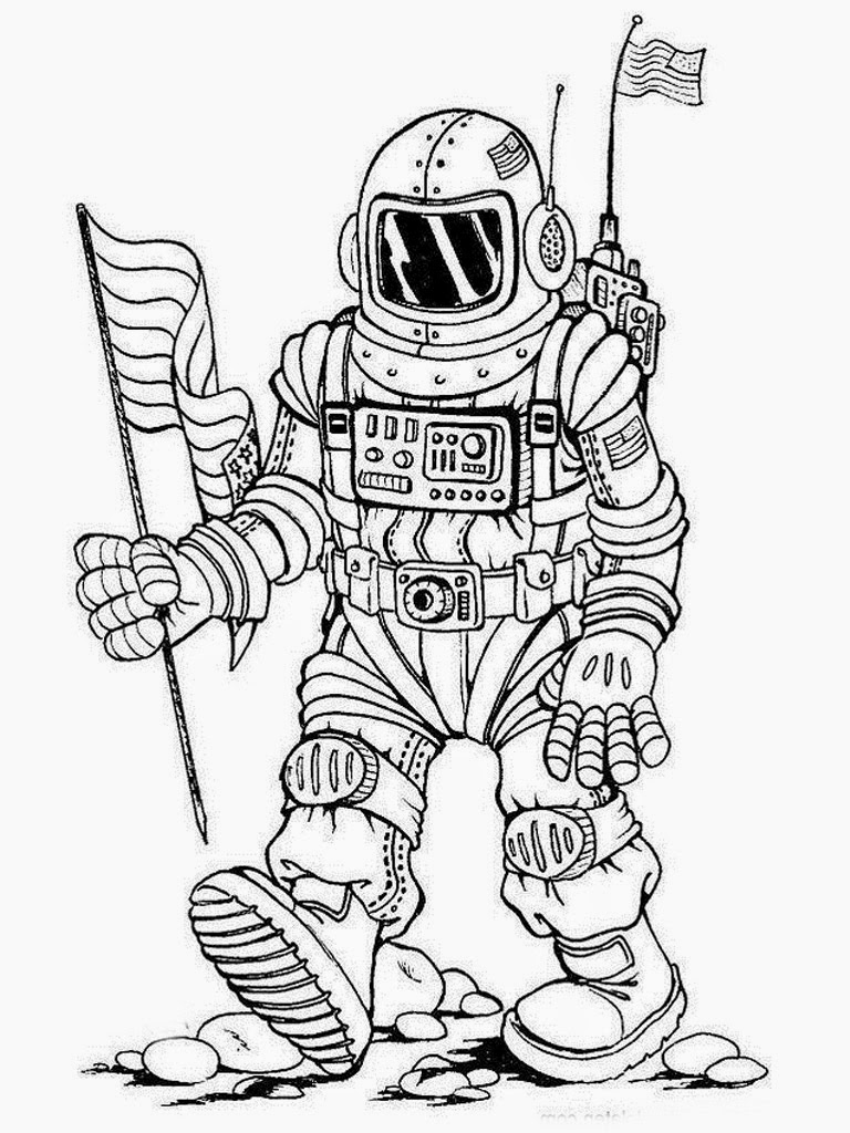 astronaut coloring for kids an astronaut in the spacesuit in the orbit coloring page astronaut for coloring kids