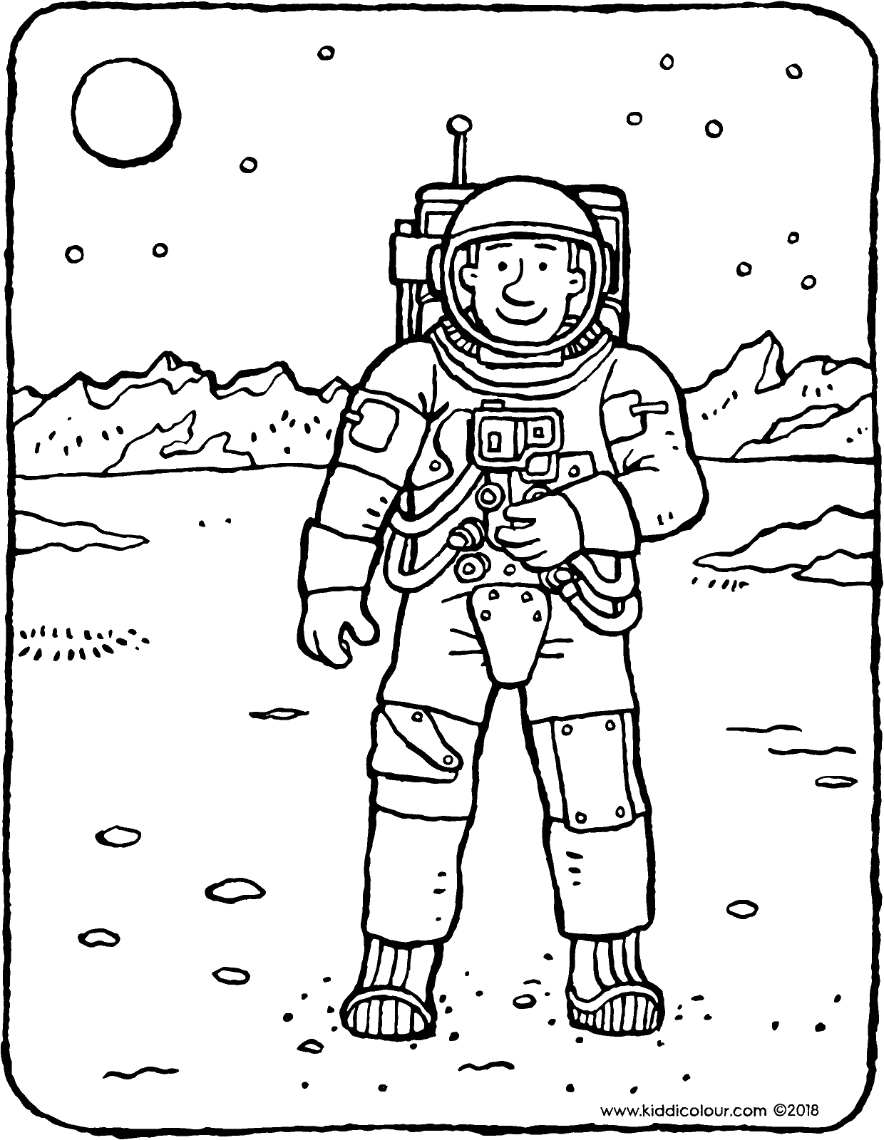 astronaut coloring for kids astronaut kiddicolour coloring for kids astronaut