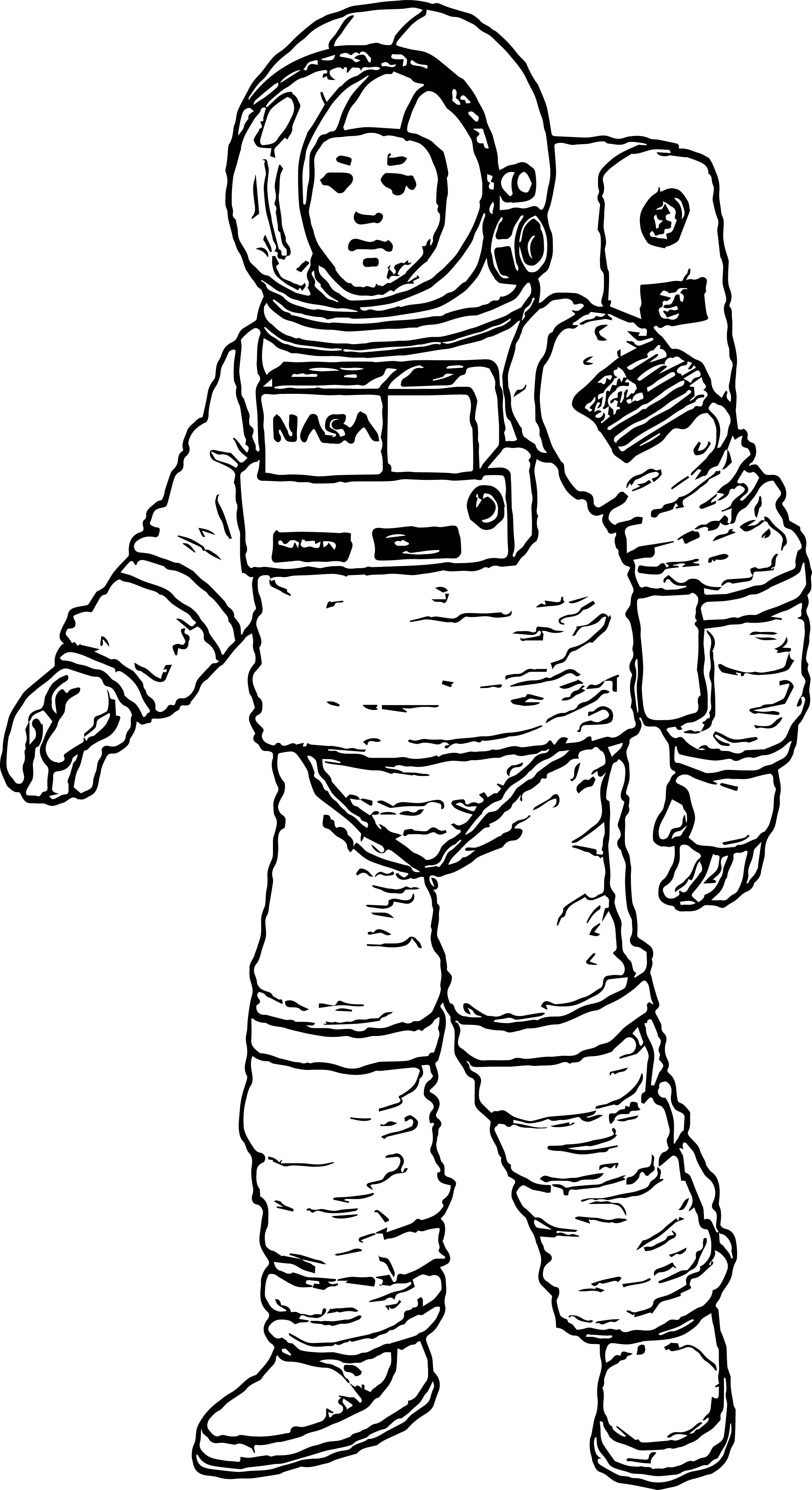 astronaut coloring for kids astronaut nasa coloring page wecoloringpagecom kids astronaut coloring for