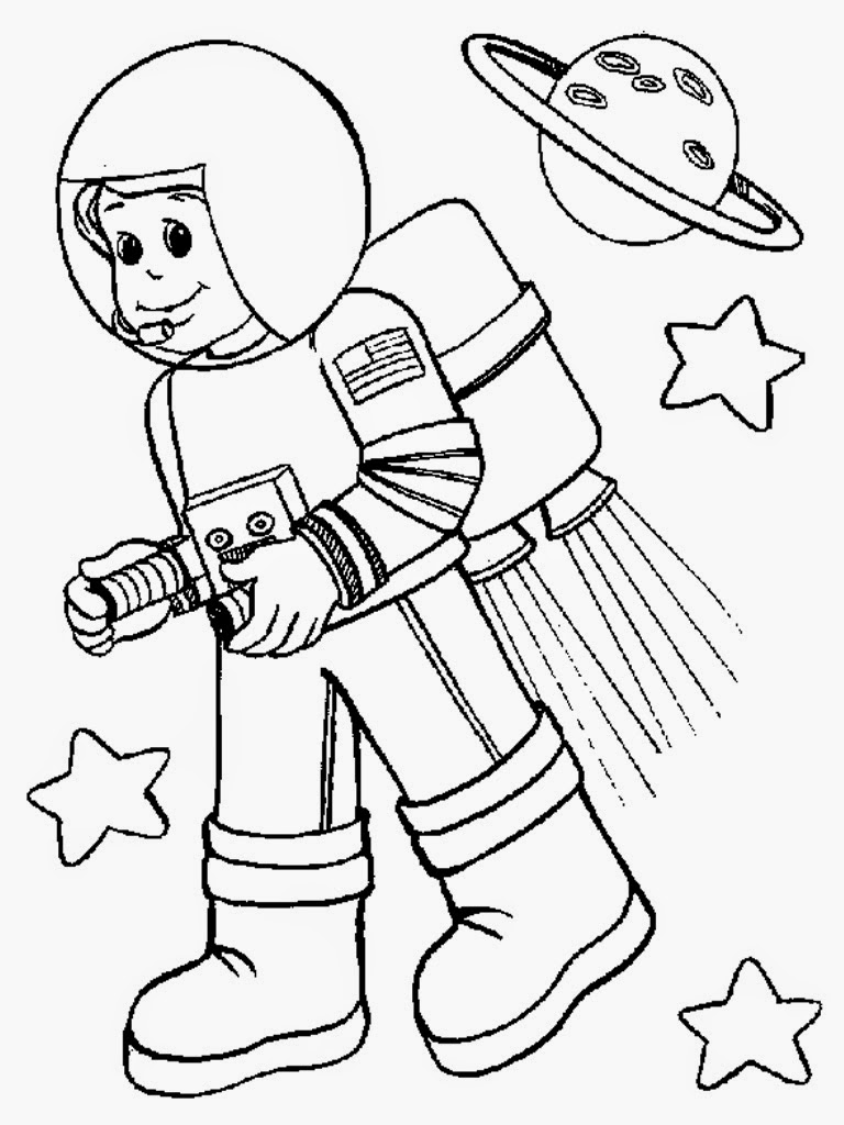 astronaut coloring for kids astronaut outer space coloring page coloring home for astronaut kids coloring