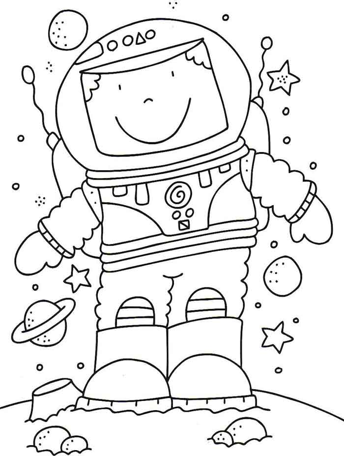 astronaut coloring for kids simple astronaut drawing at getdrawings free download astronaut kids for coloring