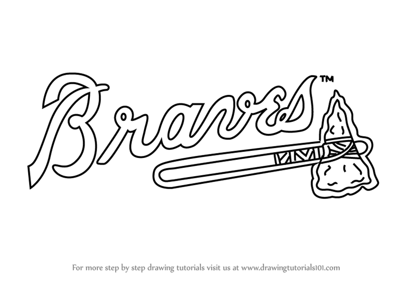 atlanta braves coloring pages step by step how to draw atlanta braves logo pages atlanta coloring braves