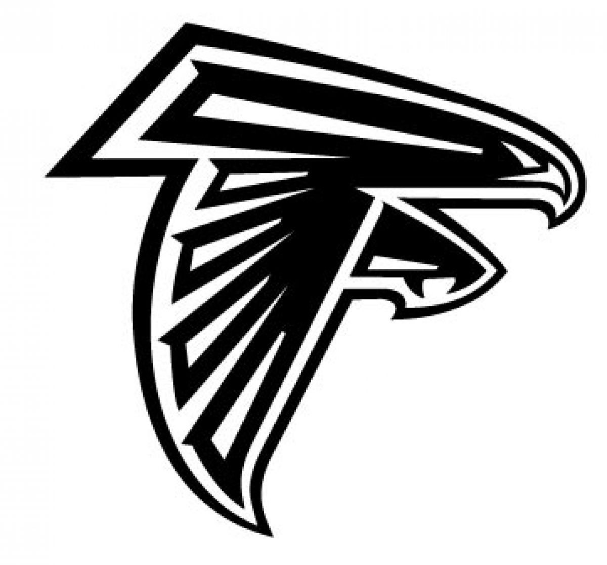 atlanta falcons logos atlanta falcons logo vinyl cut out decal choose your falcons atlanta logos